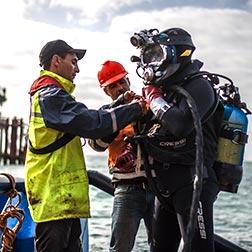 Scafandrier-travaux sous-marin-nigri france