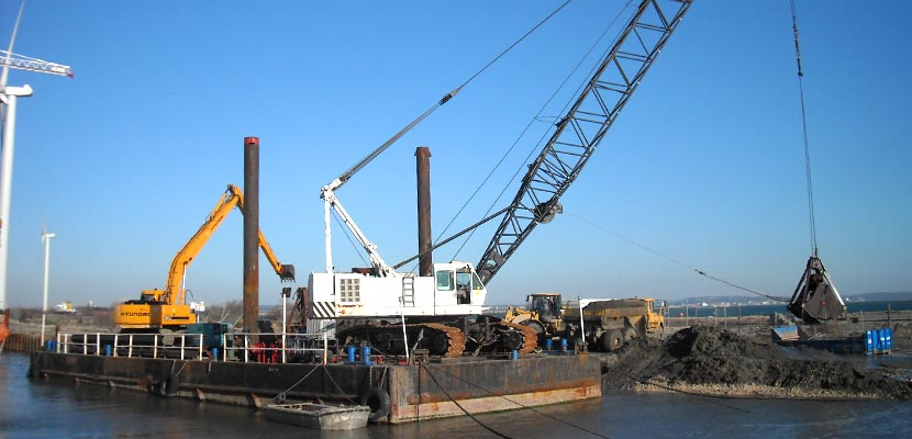 Dredging of Combigolf's power plant outlet
