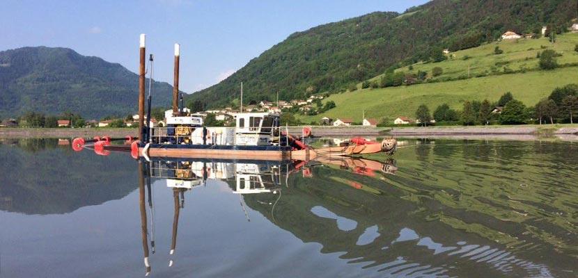 Dredging of the port de Flumet