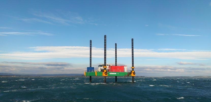 Geotechnical sampling campaign at the new port of Port la Nouvelle Ginger