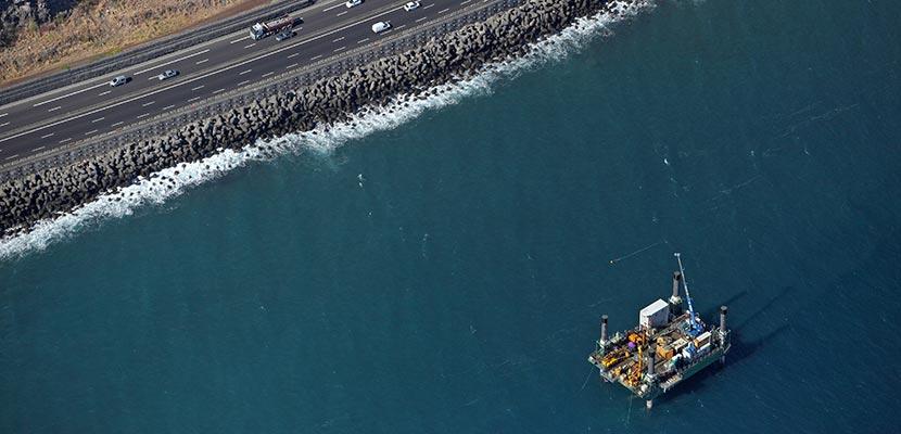 Campagne de sondage géotechnique – Viaduc de la route du littoral